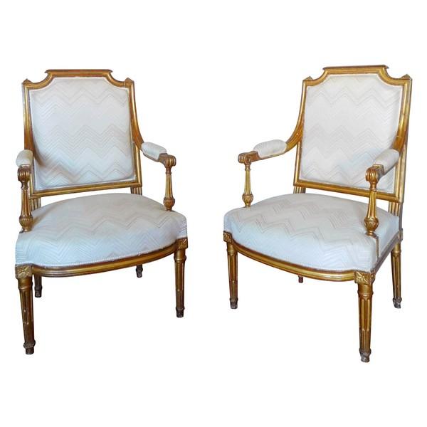 fauteuils a la reine lxvi dores
