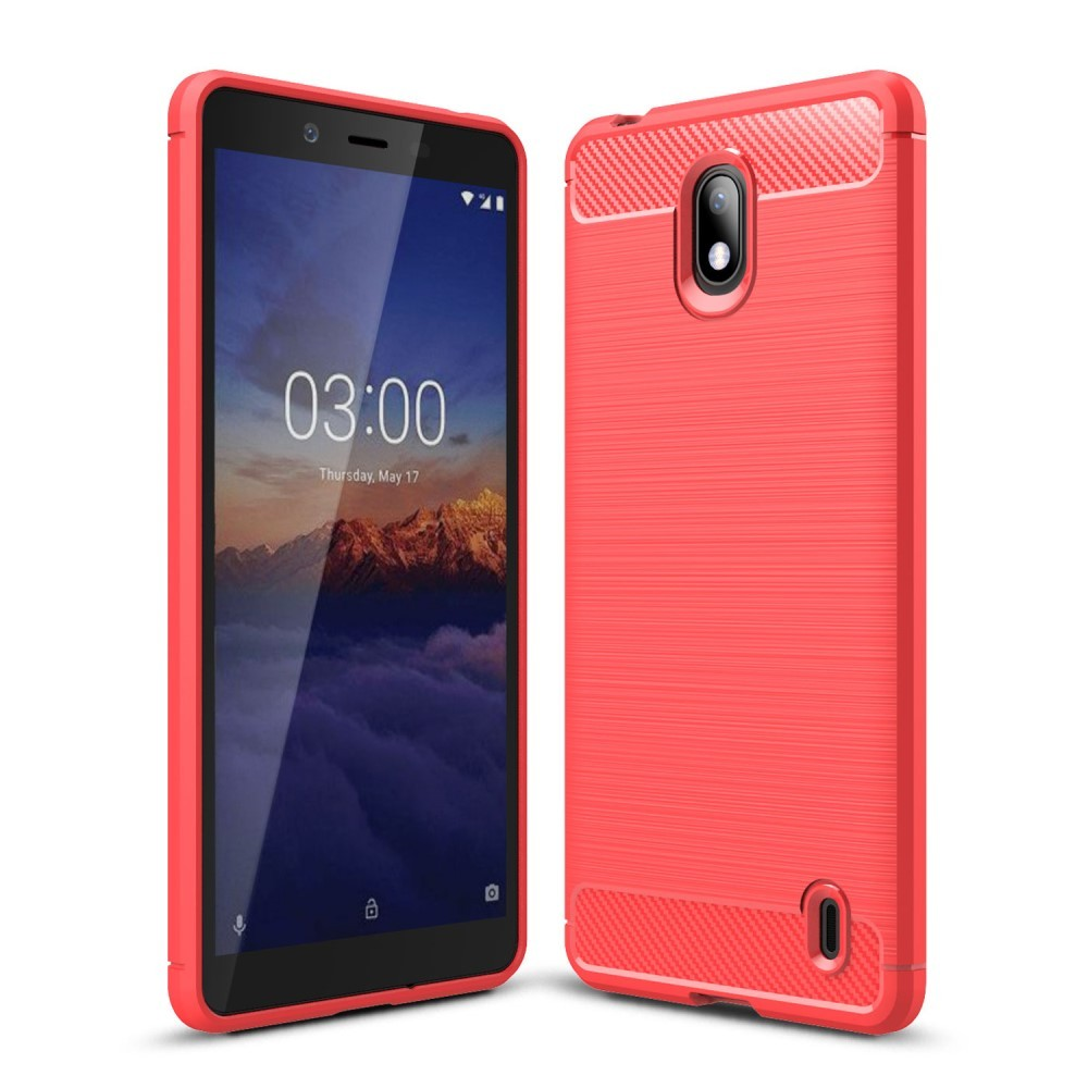 Armor Brushed TPU Nokia 1 Plus Hoesje - Rood | GSM-Hoesjes.be