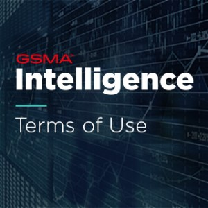 GSMA Intelligence Terms of Use text with a dark background