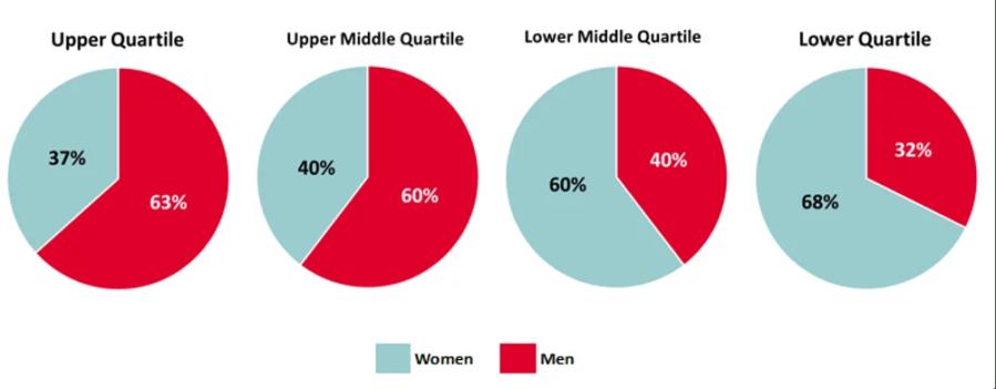 pay quartiles graph