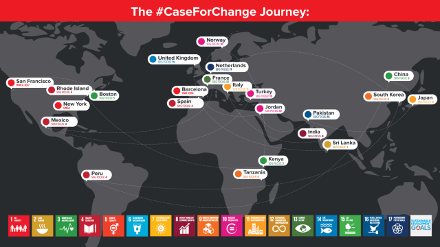 The Case for Change map