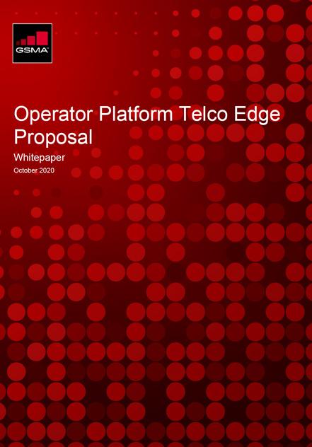 GSMA Operator Platform Telco Edge Proposal Whitepaper image