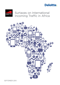 Surtaxes on International Incoming Traffic in Africa 2014 image