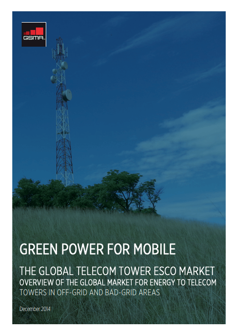 The Global Telecom Tower Esco Market: Overview of the global market for energy to telecom towers in off-grid and bad-grid areas image