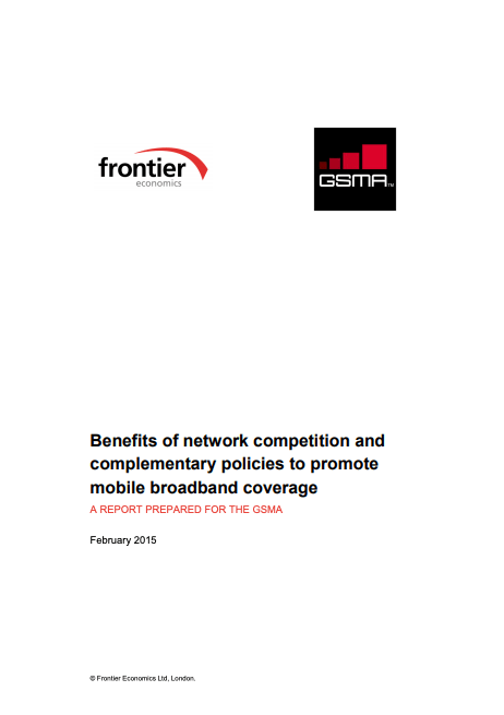 Benefits of network competition and complementary policies to promote mobile broadband coverage image