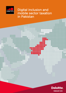 Digital inclusion and mobile sector taxation in Pakistan 2015 study image