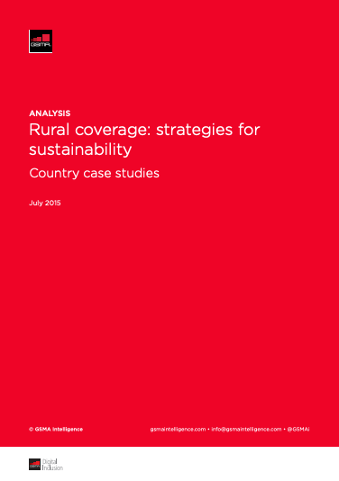 Rural Coverage: Strategies for Sustainability image