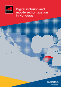 Digital inclusion and mobile sector taxation in Honduras 2016 image