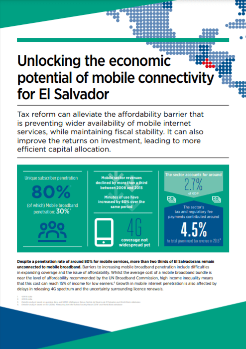 Digital Inclusion and Mobile Sector Taxation in El Salvador 2017 image