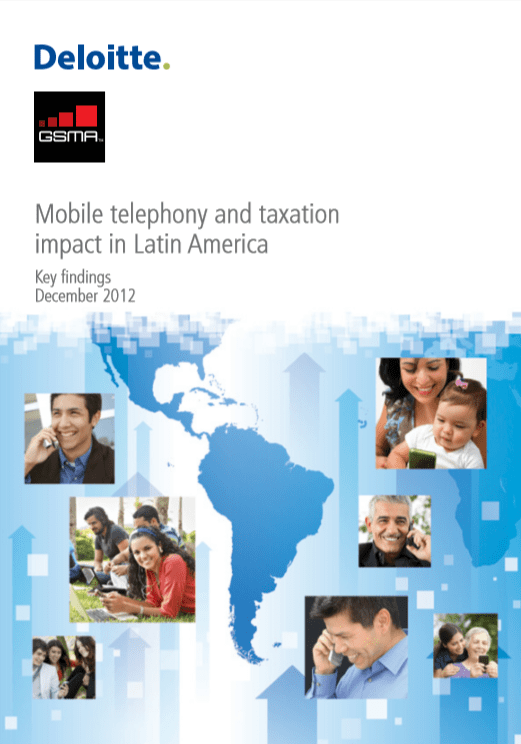 Mobile telephony and taxation impact in Latin America 2012 image