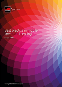 Best practice in mobile spectrum licensing image