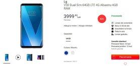 Cena LG V30 w Rumunii
