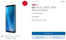 Cena LG V30 w Szwajcarii