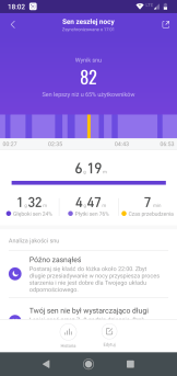 Mi Fit analiza snu (1) / fot. techManiaK