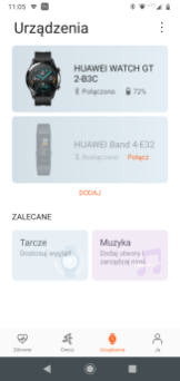 Huawei Zdrowie: zegarek i tarcze (1)