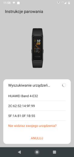 Huawei Band 4 + aplikacja Zdrowie parowanie (5)