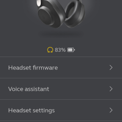 Aplikacja Jabra Sound: podstawowe opcje słuchawek (1)