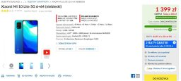 Promocyjna cena Xiaomi Mi 10 Lite w RTV Euro AGD