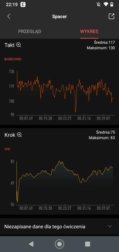 Marsz: wyniki Amazfit Neo w apce Zepp (5)