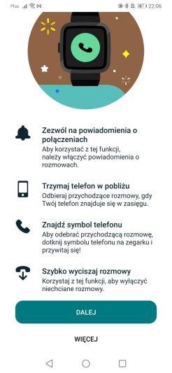 Fitbit: konfiguracja rozmów głosowych (6)