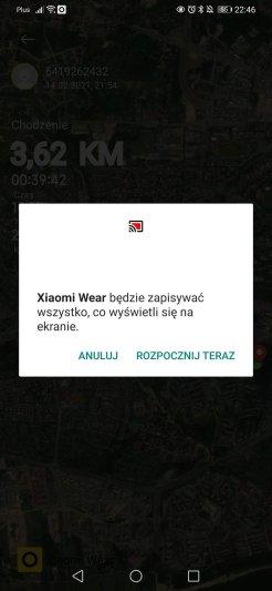 Xiaomi Mi Watch : udostępnianie treningów (5)