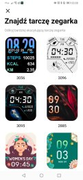 Tarcze zegarka w aplikacji (2)