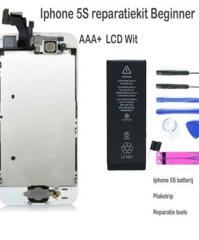Iphone 5S LCD reparatie en upgrade kit - voor de beginner - Wit
