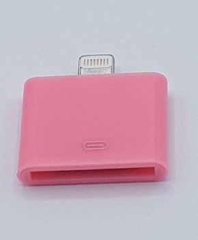 30 Pin 8 Pin Adapter - Voor Ipad / iPhone - Roze