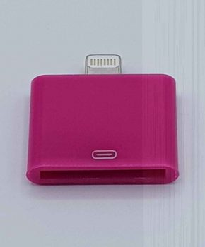 30 Pin Naar Lightning compatible (8 Pin) Kabel Adapter - Voor Ipad / iPhone - Fuchsia