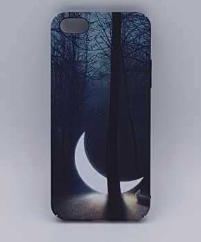 iPhone 5, 5s, SE hoesje  - sunken moon in the forest