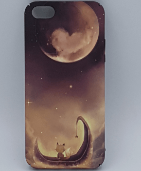 iPhone 5, 5s, SE hoesje - View at the moon