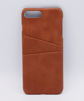 Voor IPhone 7/8 Plus - kunstlederen back cover / wallet - bruin