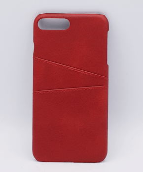 Voor IPhone 7/8 Plus - kunstlederen back cover / wallet rood