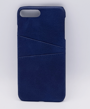 Voor IPhone 7/8 Plus - kunstlederen back cover / wallet - blauw