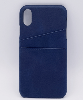 Voor IPhone Xs Max - kunstlederen back cover / wallet - blauw