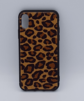 iPhone X hoesje - panter look - pluizig - Bruin