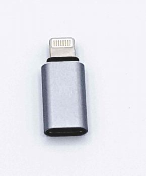 Type C naar 8 Pin male Adapter - Zilver