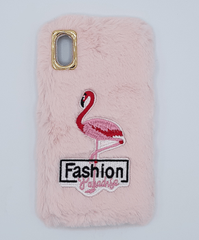 zacht pluizig hoesje  for iPhone XS max - flamingo pink