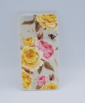 iPhone 6 PLus hoesje - yellow and pink roses
