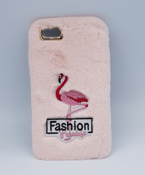 pluizig hoesje for iPhone 6 Plus - flamingo pink