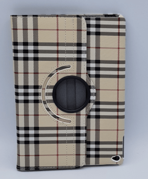 Voor Ipad Air 2 case / hoes - Burberry Style - bruin