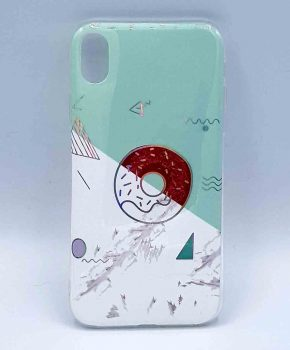 iPhone XR - hoesje - donut on marble – groen