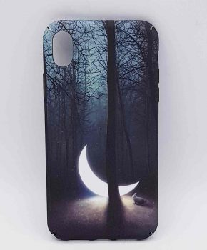 iPhone XR- hoesje - sunken moon in the forest
