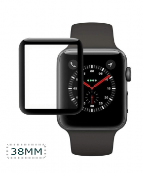 Apple iWatch Screen Protector 38mm - full cover - zwart
