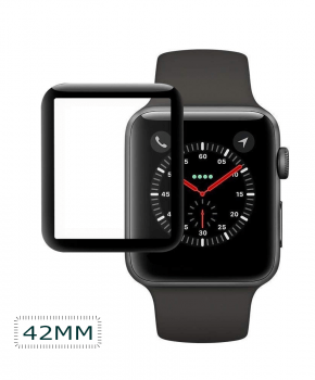 Apple iWatch Screen Protector 42mm - full cover - zwart