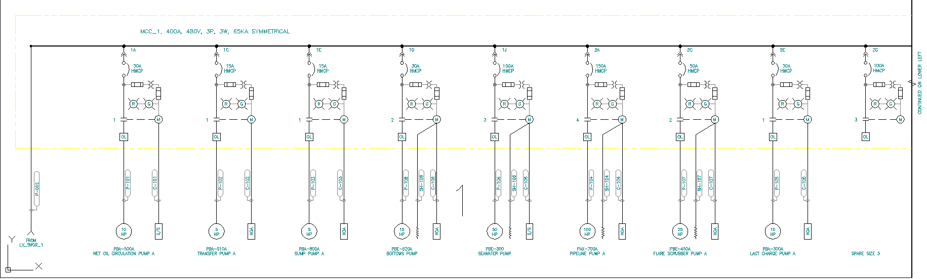 hight resolution of an electrical single line diagram produced by gsn s electrical design software