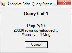 Analytics Edge Query Status