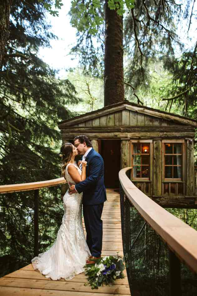 Temple of the Blue Moon Wedding at Treehouse Point