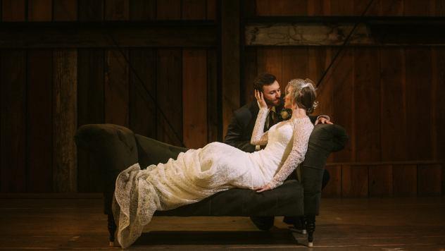 Wedding couple at Pickering Barn