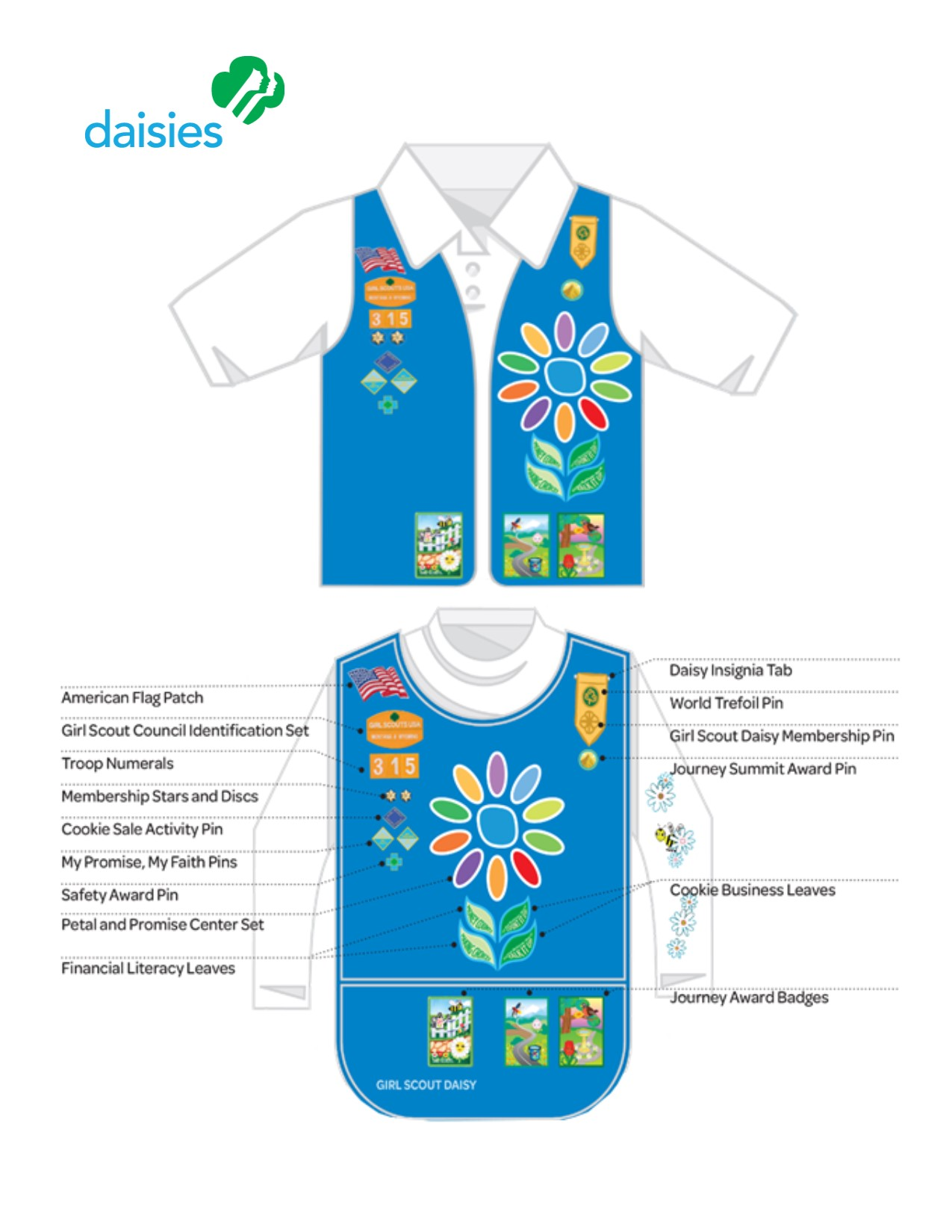 daisy tunic diagram of supplementary angles 2018  girl scout images senior picture